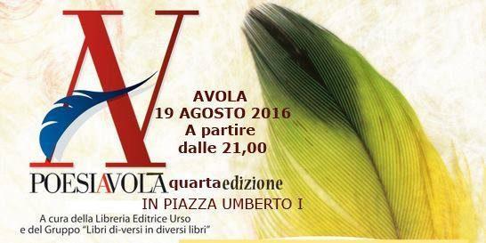 Domani 19 agosto la quarta edizione di PoesiAvola